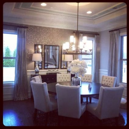 Comfy formal table centerpieces decorating ideas for dining room 50