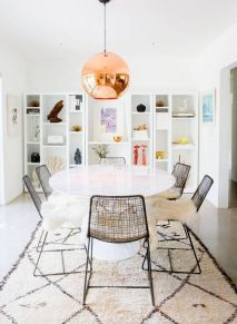 Cute dining room rug decorating ideas 12