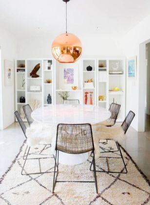 Cute dining room rug decorating ideas 12