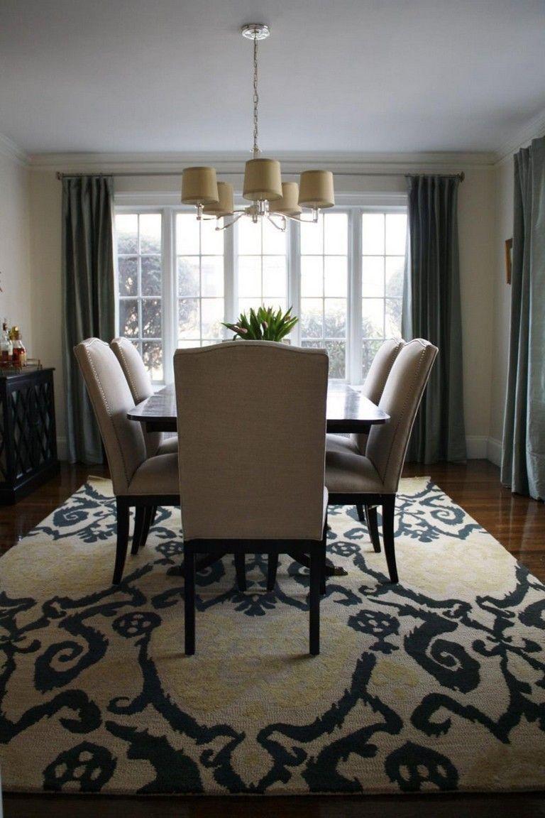 Cute dining room rug decorating ideas 22