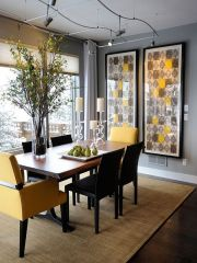 Cute dining room rug decorating ideas 27
