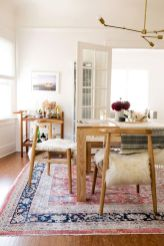 Cute dining room rug decorating ideas 33