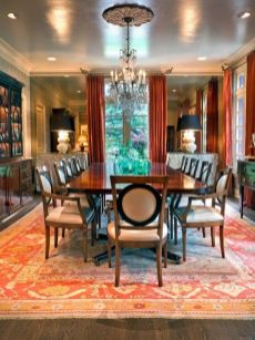 Cute dining room rug decorating ideas 37