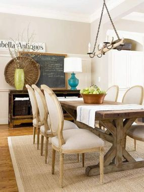 Cute dining room rug decorating ideas 39