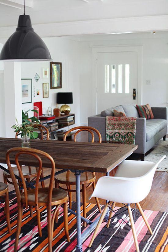 Cute dining room rug decorating ideas 40