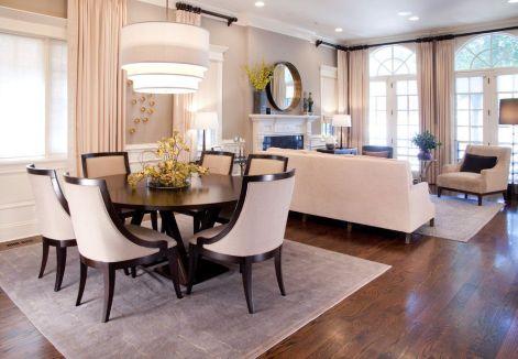 Cute dining room rug decorating ideas 44