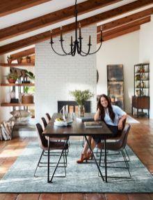 Cute dining room rug decorating ideas 45