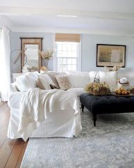 Cute french style living room for new home style 02