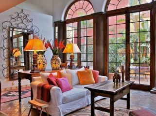 Cute french style living room for new home style 04