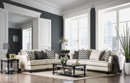Cute french style living room for new home style 06