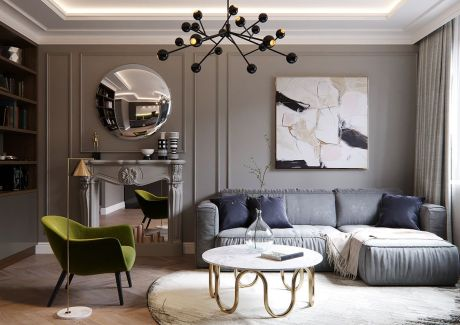 Cute french style living room for new home style 16