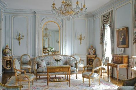 Cute french style living room for new home style 19