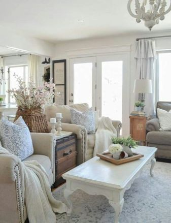 Cute french style living room for new home style 26