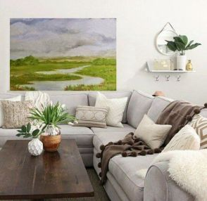 Cute french style living room for new home style 33