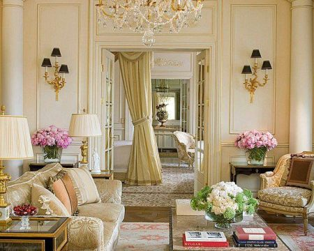 Cute french style living room for new home style 35