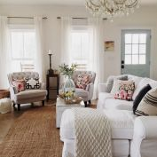 Cute french style living room for new home style 40