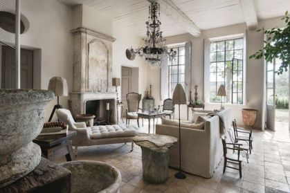 Cute french style living room for new home style 44