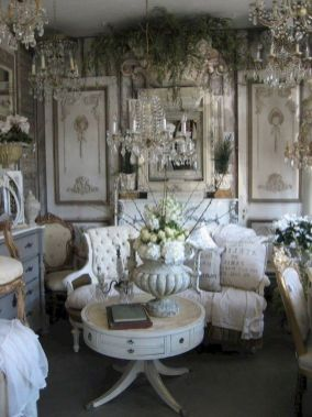 Cute french style living room for new home style 46