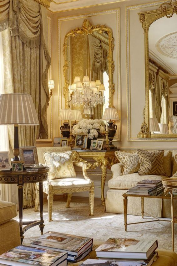 Cute french style living room for new home style 50