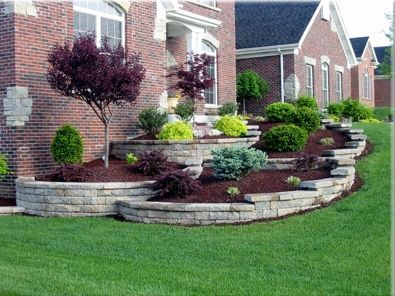 Elegant backyard landscaping ideas using bricks 03