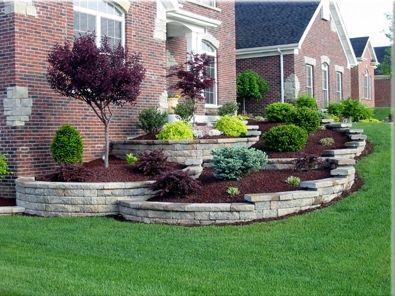 Elegant backyard landscaping ideas using bricks 03