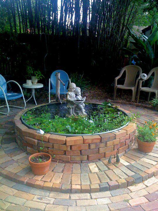 Elegant backyard landscaping ideas using bricks 04