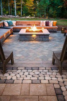 Elegant backyard landscaping ideas using bricks 07