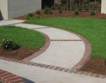 Elegant backyard landscaping ideas using bricks 11