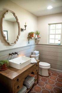 Elegant bowl less sink bathroom ideas 07