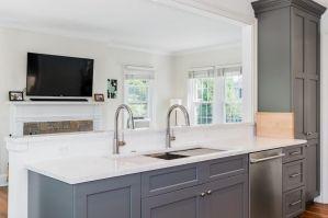 Elegant bowl less sink bathroom ideas 26