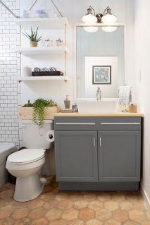 Elegant bowl less sink bathroom ideas 31