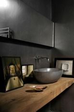 Elegant bowl less sink bathroom ideas 32