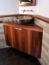 Elegant bowl less sink bathroom ideas 44