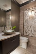 Elegant bowl less sink bathroom ideas 45