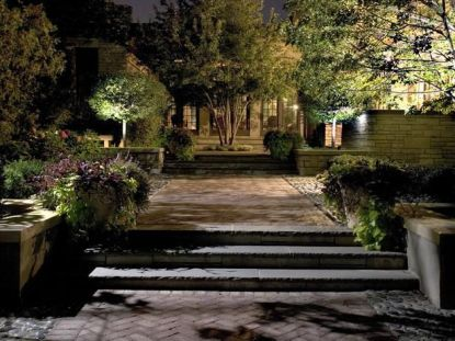 Gorgeous night yard landscape lighting design ideas 05