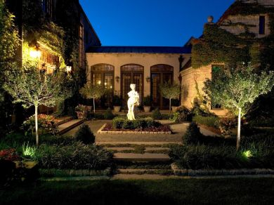 Gorgeous night yard landscape lighting design ideas 06