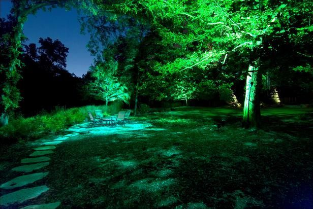 Gorgeous night yard landscape lighting design ideas 07