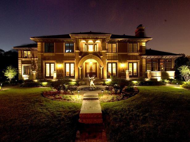 Gorgeous night yard landscape lighting design ideas 11