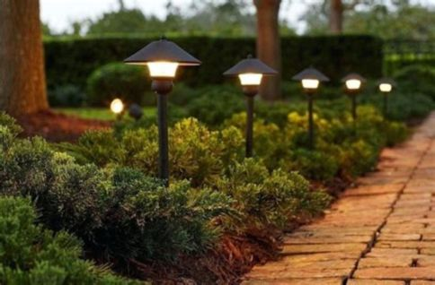 Gorgeous night yard landscape lighting design ideas 16