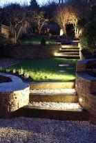 Gorgeous night yard landscape lighting design ideas 17