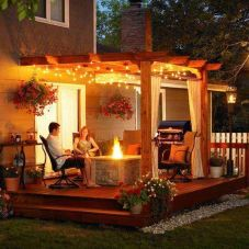 Gorgeous night yard landscape lighting design ideas 23