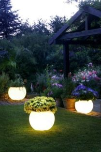 Gorgeous night yard landscape lighting design ideas 29