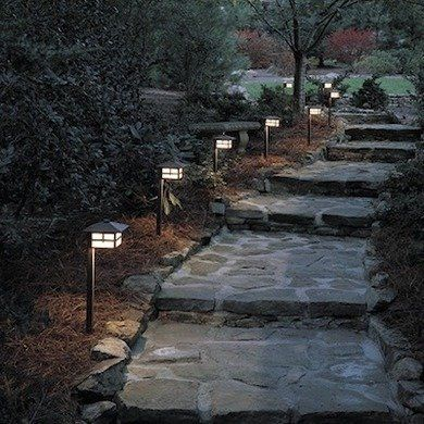 Gorgeous night yard landscape lighting design ideas 33