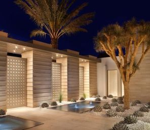 Gorgeous night yard landscape lighting design ideas 48