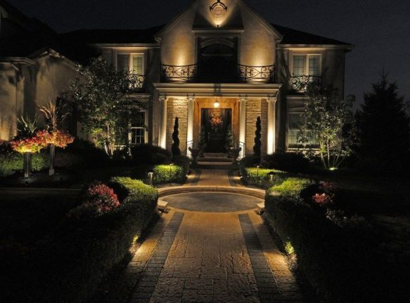 Gorgeous night yard landscape lighting design ideas 50