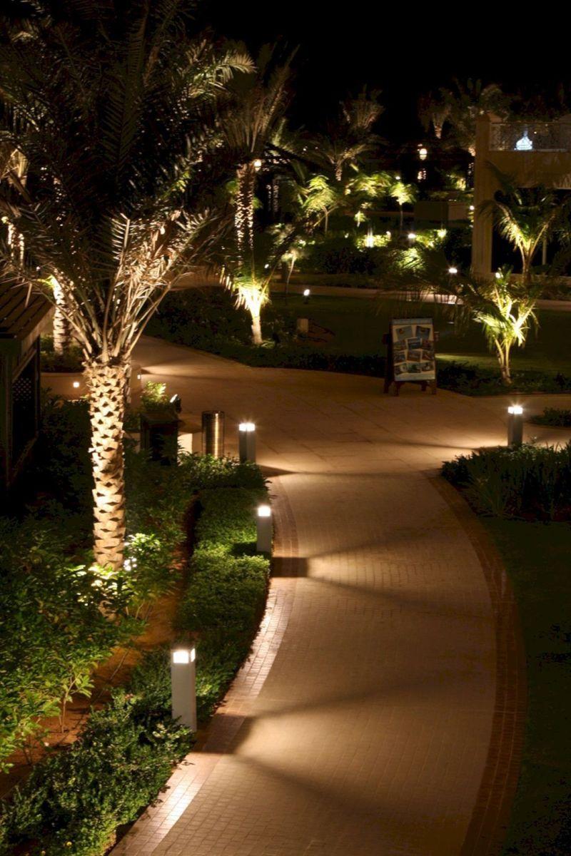 Gorgeous night yard landscape lighting design ideas 54
