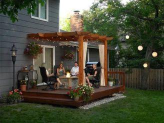 Modern small outdoor patio design decorating ideas 11