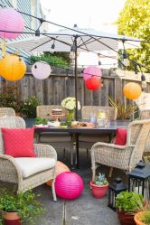 Modern small outdoor patio design decorating ideas 29