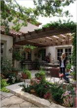 Modern small outdoor patio design decorating ideas 50
