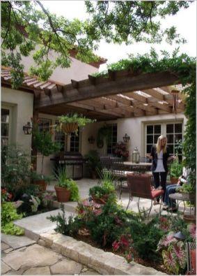 Modern small outdoor patio design decorating ideas 50